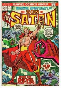 Marvel Spotlight 13 - Origin Son of Satan, 1st app Marduk 1st ap Victoria H
