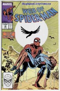 WEB of SPIDER-MAN #45, NM+, Saviuk, Las Vegas, Vulture, more Spidy in store