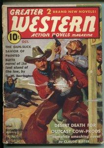 Greater Western #6 10/1939-gunfight cover-Wild Bill Hickok-British variant-G-