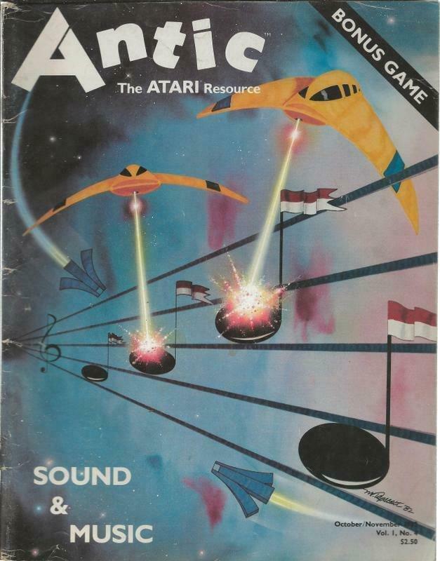 ORIGINAL Vintage Antic Atari Magazine Vol 1 #4 October/Nov 1982