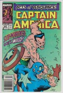 Captain America #365 (Dec 1989) 5.0 VG/FN Marvel vs Sub-Mariner