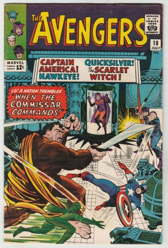 Avengers, The #18 (Jul-65) VF+ High-Grade Avengers