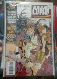 CONAN    # 1 1995 MARVEL  LARY HAMA BARBARIAN SWORD AND SORCERY MEDEVIL