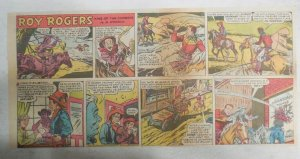 Roy Rogers Sunday Page by Al McKimson from 6/19/1955 Size 7.5 x 15 inches