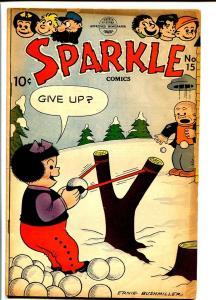 SPARKLE COMICS #15-NANCY SLUGGO SNOWBALL FIGHT