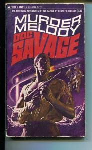 DOC SAVAGE-MURDER MELODY-#15-ROBESON-VG- JAMES BAMA COVER- G