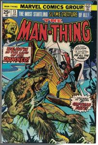 MAN THING (1974) 13 FN+ Jan. 1975