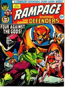 Rampage (Marvel UK Nov. 9 1977) #4 Defenders Nova Dr. Strange Hulk Namor +