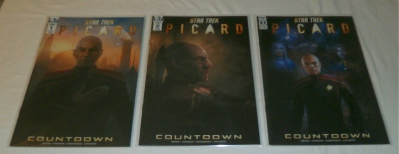 Star Trek  : Picard – Coundown  #1-3 (complete set)