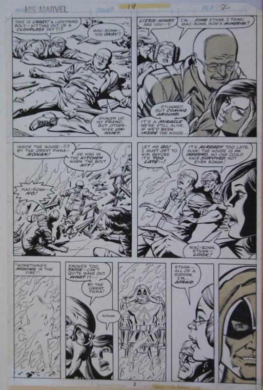 CARMINE INFANTINO original art, MS MARVEL #19, Ronan, Guardians of the Galaxy