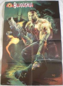 BLOODSHOT Promo poster, Acclaim, Valiant, 1997, Unused, more in our store