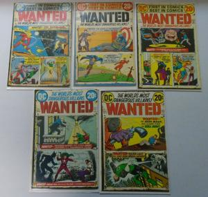 Wanted the World's Most Dangerous Villains Set:#1-9+Special, Avg 4.0 (1971-1973)