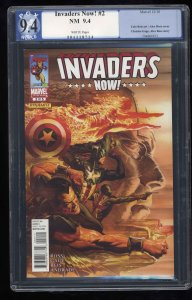 Invaders Now! #2 PGX NM 9.4 White Pages