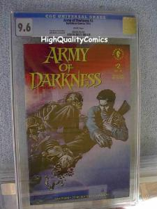 ARMY of DARKNESS #2, CGC 9.6 NM+, 1992, Evil Dead, Bruce Campbell, John Bolton,