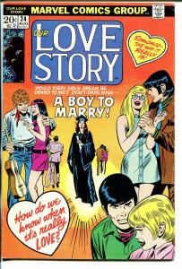 Our Love Story #24 1973-Marvel-romance stories-VG