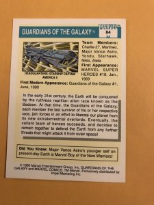 GUARDIANS OF THE GALAXY #84 : 1990 Marvel Universe Series 1 card, NM/M Rookies