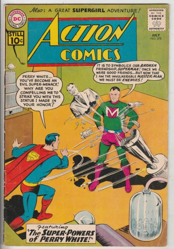 Action Comics #278 (Jul-61) FN/VF Mid-High-Grade Superman, Supergirl