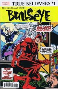 True Believers Criminally Insane Bullseye #1 2019 Marvel Comics Daredevil