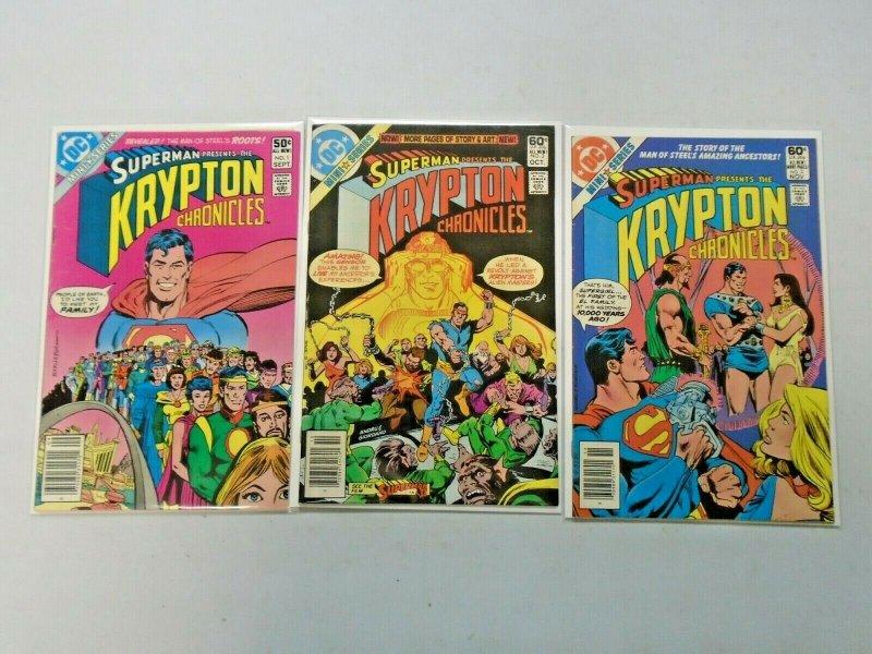 Superman The Krypton Chronicles Set #1-3 6.0 FN (1981)