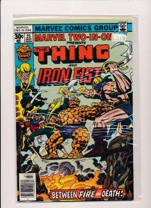 MARVEL TWO IN ONE-The THING & IRON FIST #25  F/VF(SRU247)