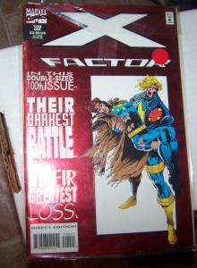 X-Factor # 100 MAR 1994 marvel   RED FOIL COVER MADDOX DIES ?