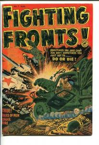 FIGHTING FRONTS #1-1952-LEE ELIAS COVER-WAR-SOUTHERN STATES PEDIGREE-fn