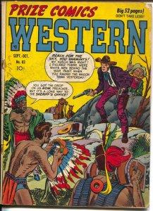 Prize Comics Western  #83 1949-Jack Kirby-John Severin-Will Elder-Jesse James-VG
