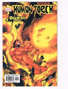 Human Torch # 4 NM Marvel Comic Book Burn Fantastic Four Invisible Woman S80