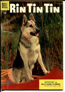 Rin Tin Tin #10 1955-Dell-photo cover-famous German Shepherd-G