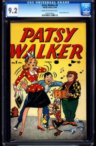 Patsy Walker #8-CGC 9.2-Monkey cover- Georgie- Timely High Grade 0762916003
