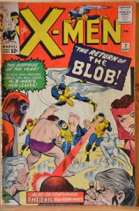 The X-Men #7 (1964) The Blob!!  Key Issue!