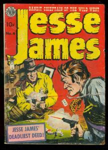 JESSE JAMES #4 1951-AVON COMICS-ER KINSTLER POKER COVER VG