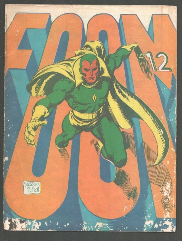 FOOM fanzine #12 1975-Marvel-Vision & Scarlet Witch Eternals art by Jack Kirb...