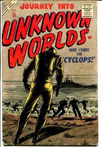 Journey Into Unknown Worlds #50 1956-Atlas-Bill Everett- Davis-Reed Crandall-VG