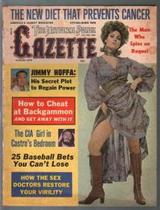 National Police Gazette 8/1975-Raquel Welch-Jimmy Hoffa-Castro-VG