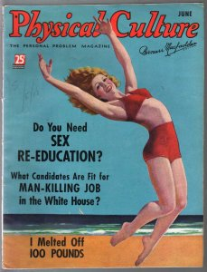 Physical Culture 5/1934swimsuit cover-pix-info-cheesecake-VG+