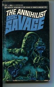 DOC SAVAGE-THE ANNHILIST-#31-ROBESON-VG-JAMES BAMA COVER-1ST EDITION VG