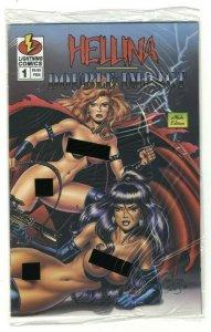 Hellina/Double Impact #1 NUDE EDITION w/ COA - Lightning Comics - 1996 (SEALED!)