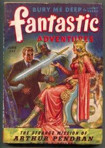 Fantastic Adventures Pulp June 1944- Arthur Pendran- Frank R Paul
