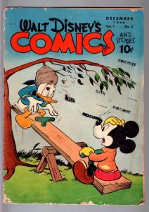 WALT DISNEY'S COMICS AND STORIES #75-1947-DONALD DUCK-MICKEY MOUSE-C BARKS- G