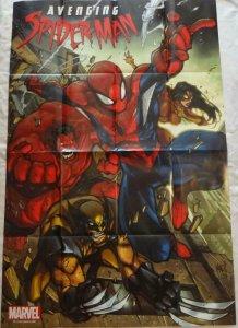 AVENGING SPIDER-MAN Promo Poster, 24 x 36, 2011, MARVEL Wolverine, Unused 219