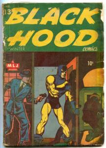 Black Hood Comics #13 1944- bare breasted iron maiden- restored POOR