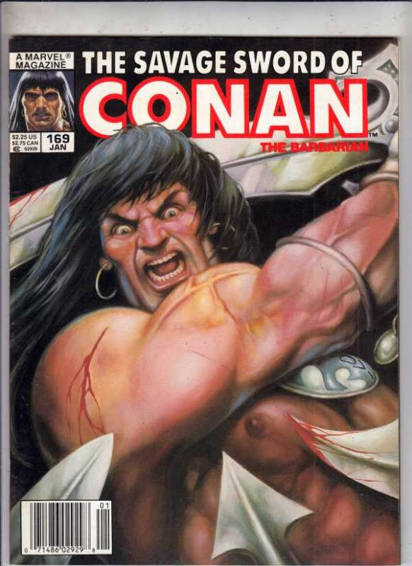 Savage Sword of Conan #169 (Jan-90) NM- High-Grade Conan