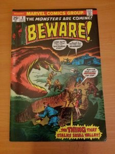 Beware #8 ~ VERY FINE - NEAR MINT NM ~ (1974, Marvel Comics)