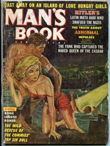 Man's Book Magazine July 1962- Headlight cover- Nazis- Love Hungry Girls F/G