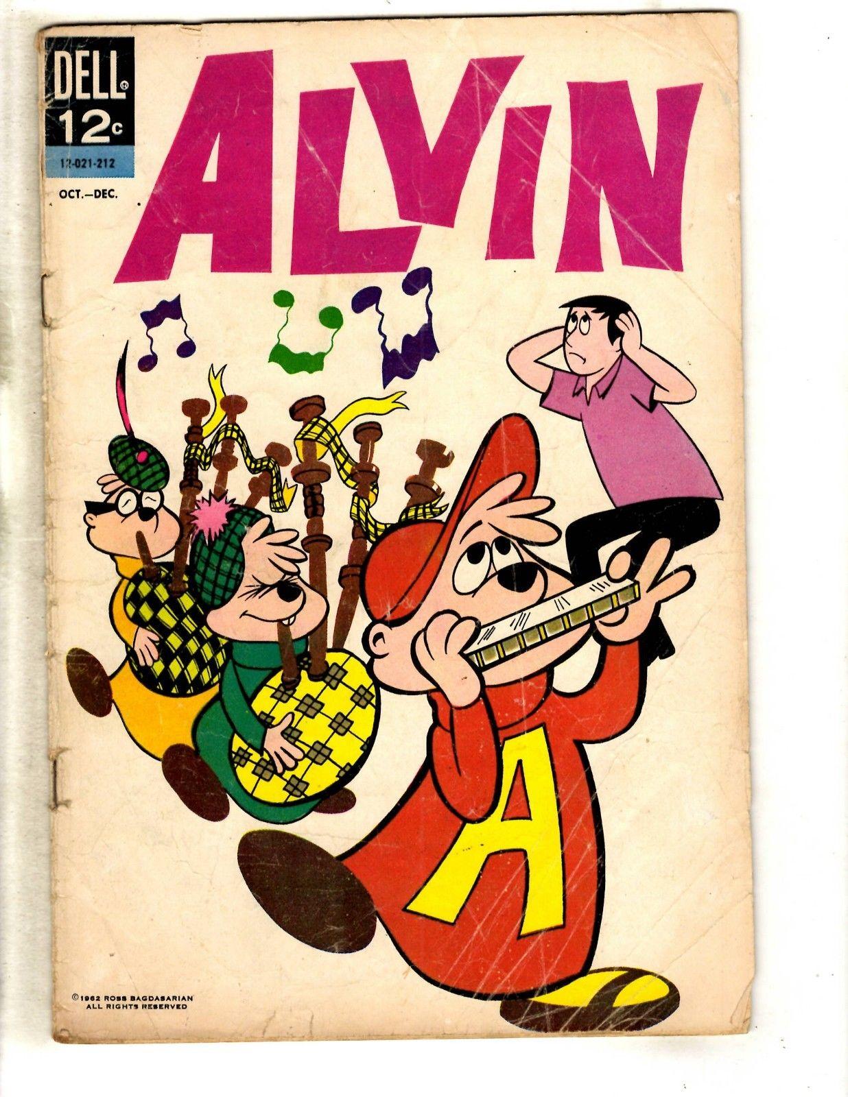 Alvin The Chipmunk # 1 VG Dell Silver Age Comic Book 1962 Theodore