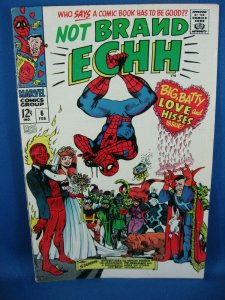 NOT BRAND ECHH 6  F VF SPIDERMAN  MARVEL SATIRE 1968