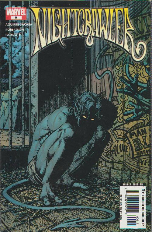 SALE! - NIGHTCRAWLER #9  -  MARVEL - BAGGED & BOARDED
