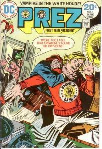 PREZ (1973) 4 VF Mar. 1974 COMICS BOOK