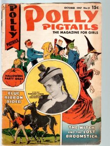 POLLY PIGTAILS #21-1946-MARGARET O'BRIEN PHOTO COVER & STORY-HALLOWEEN ISSU VG